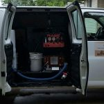 jv steam carpet cleaning van
